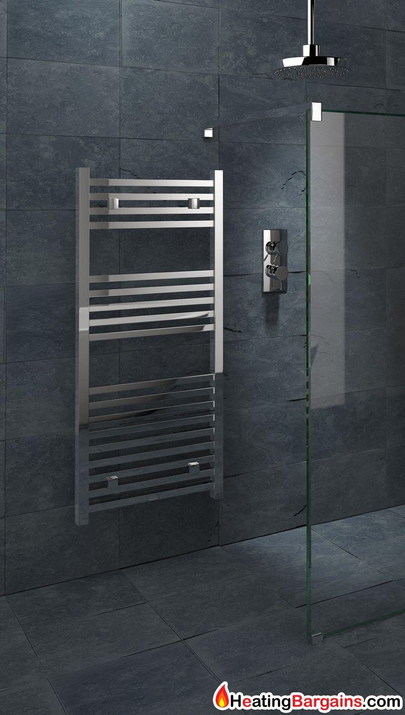 Kudox Sevilla Towel Rail 450mm X 974mm Chrome Heating