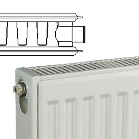 kudox steel panel radiator type 21 double panel single. Black Bedroom Furniture Sets. Home Design Ideas