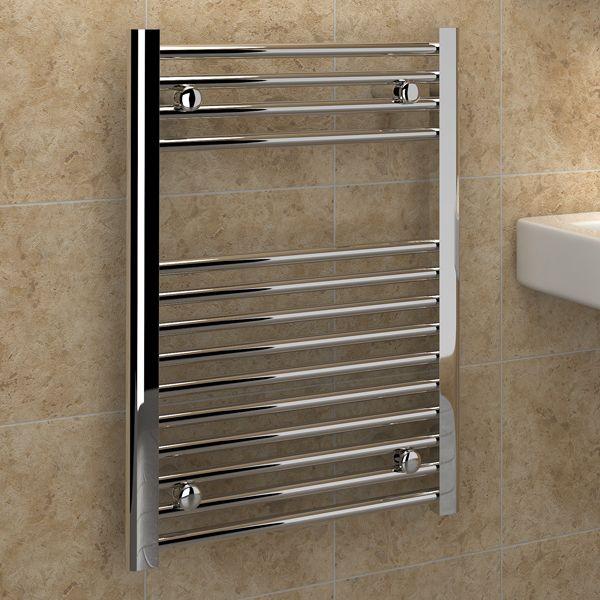 Kudox Electric Towel Rail 400mm X 700mm Chrome: Kudox Premium Ladder Towel Rail Flat D 500mm X 700mm