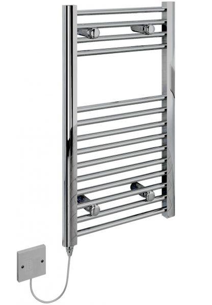 Small Electric Towel Rail Chrome 400mm x 700mm Flat 5060069429285