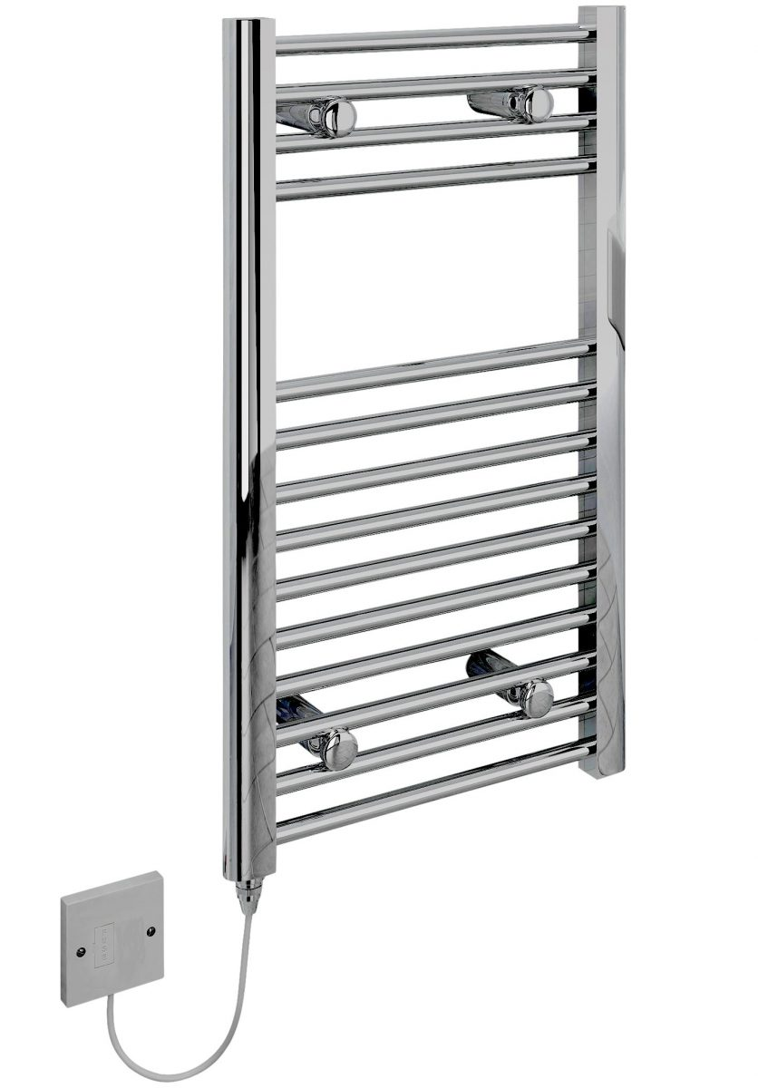 kudox small electric towel rail chrome 200w  500 x 800mm