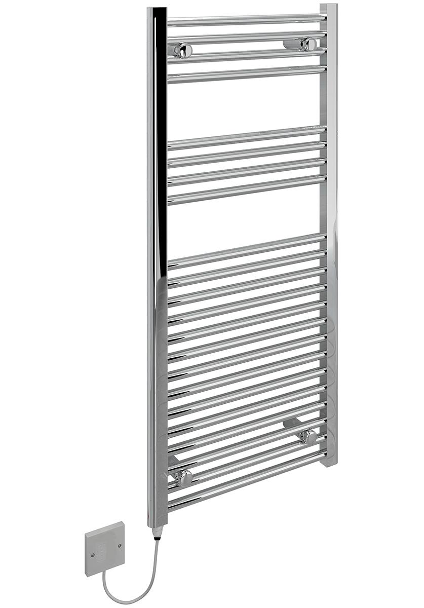 kudox electric towel rail flat chrome 250w  500 x 1100mm