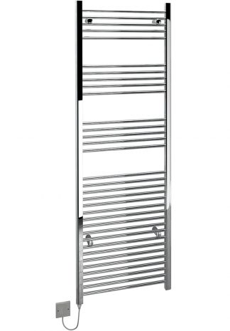Kudox Large Electric Towel Rail Chrome 600x1800 5060235346224