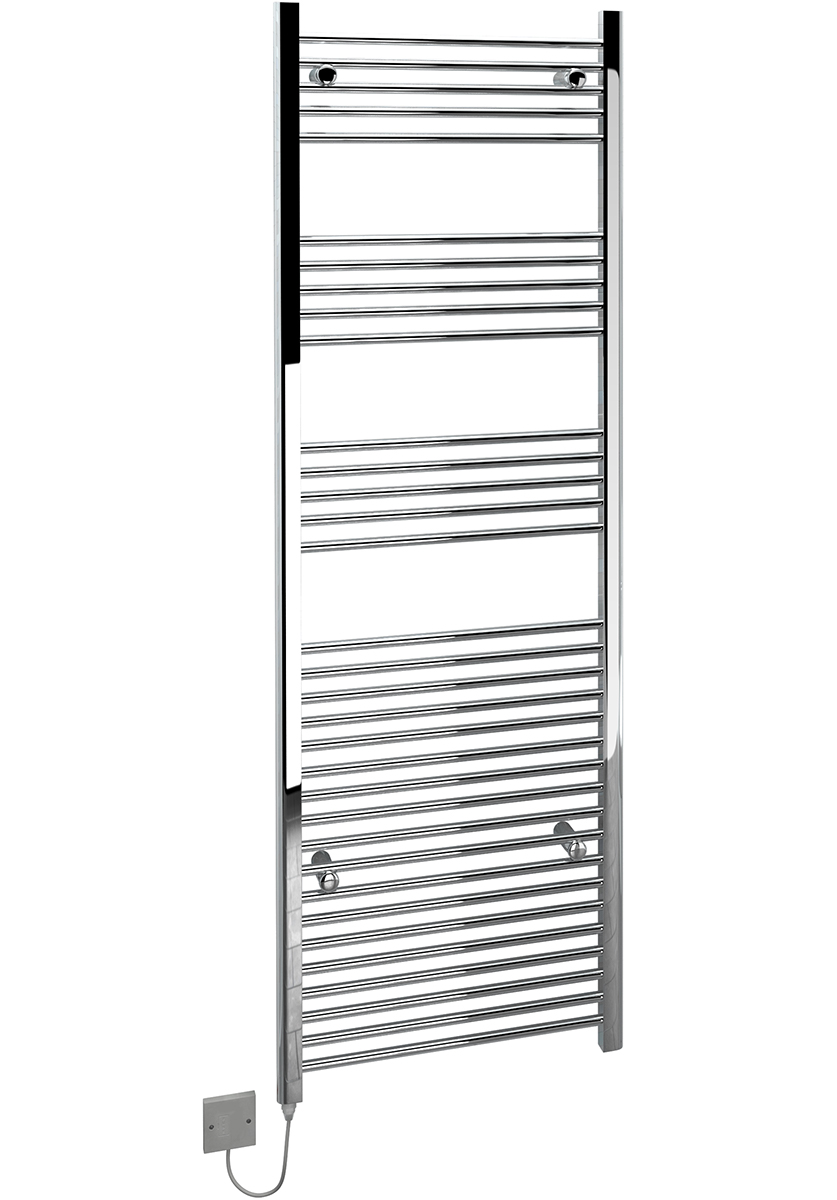 kudox large electric towel rail chrome 600w  600 x 1800mm