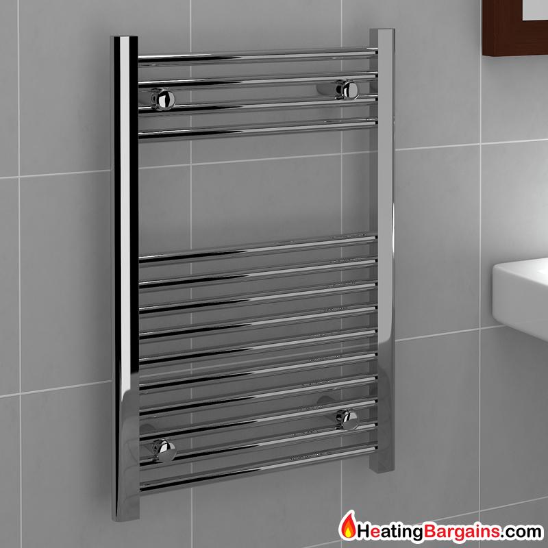 Kudox Flat Electric Towel Radiator: Kudox TradeX Ladder Towel Rail Flat D 500mm X 750mm Chrome