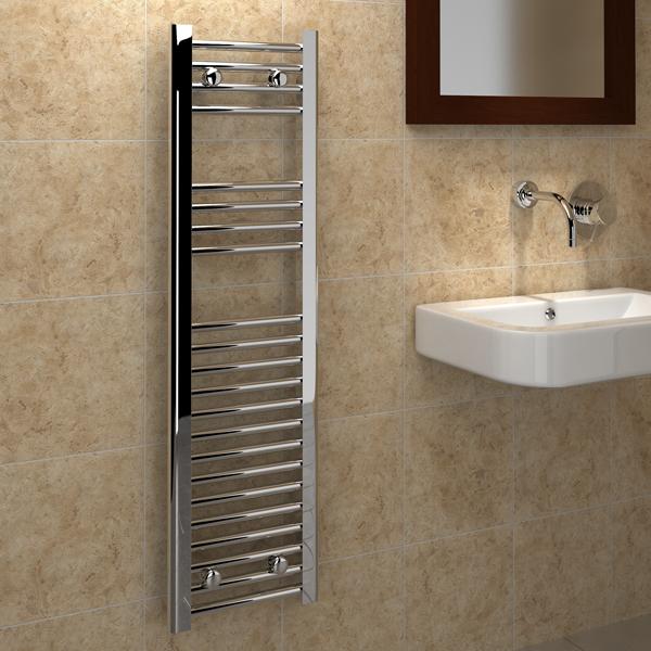 Kudox Flat Electric Towel Radiator: Kudox Premium Ladder Towel Rail Flat D 300mm X 1100mm