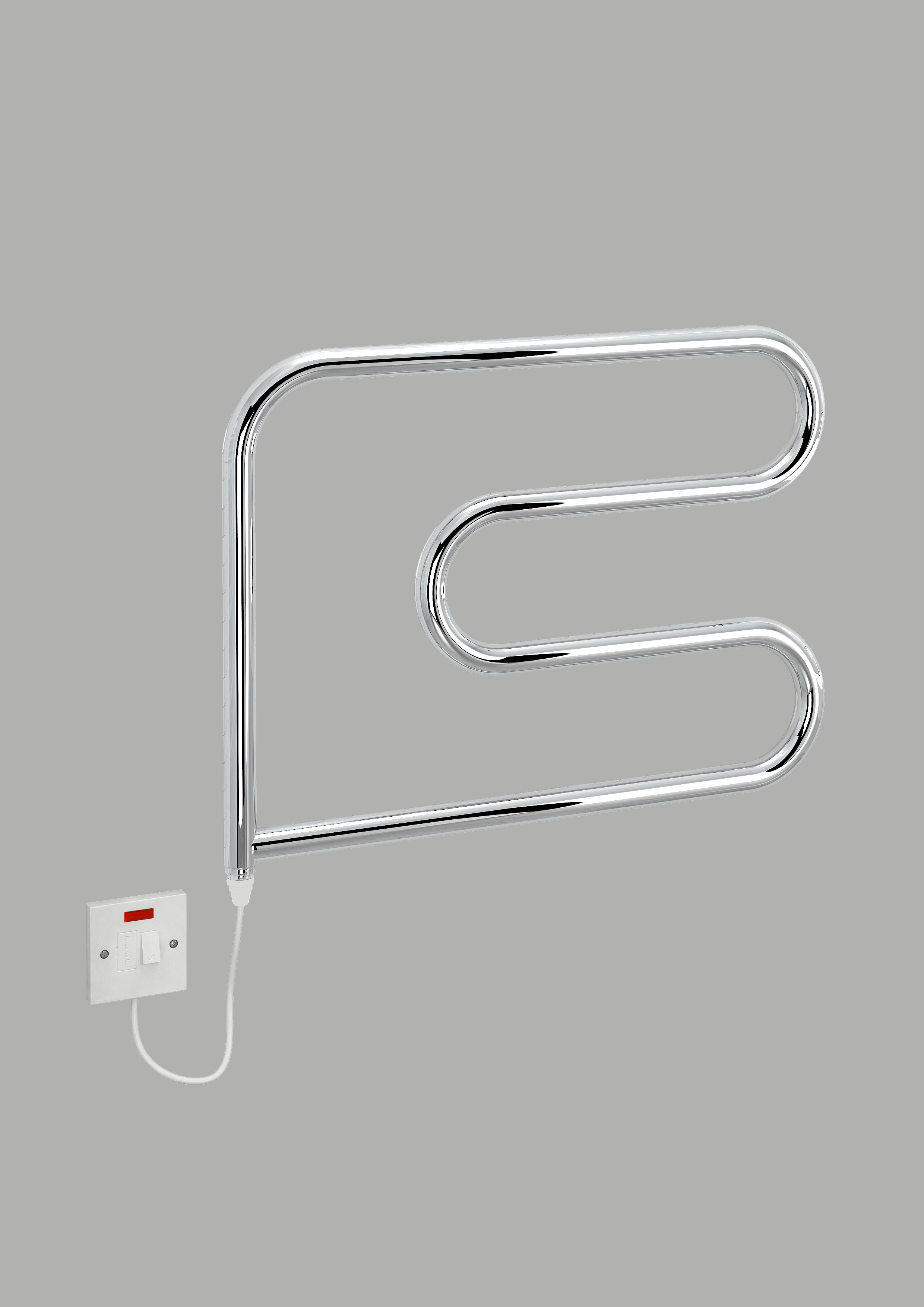 electric-c towel warmer 600mm x 500mm chrome