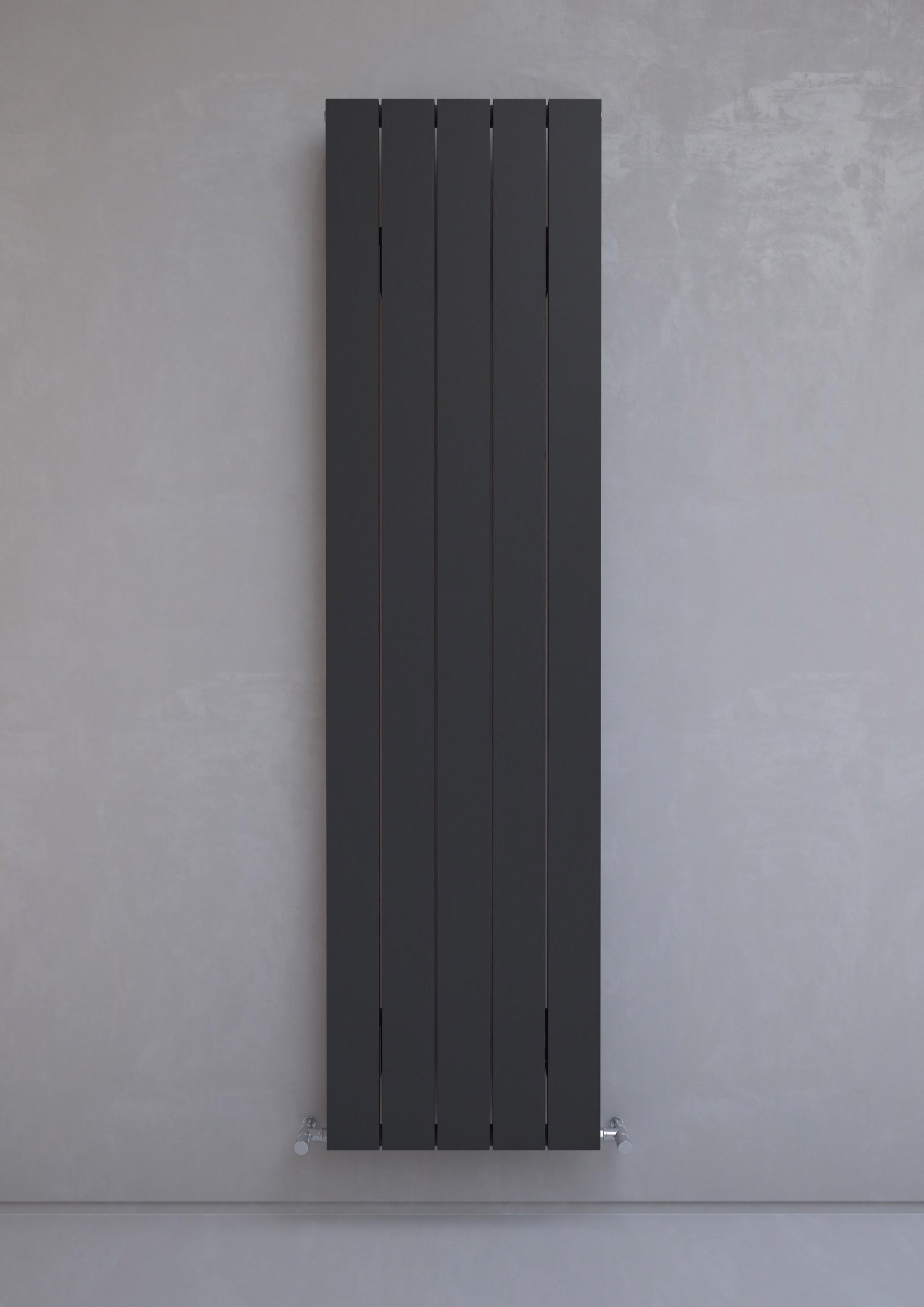 Kudox Alulite Radiator Flat 1800mm X 470mm Textured Black
