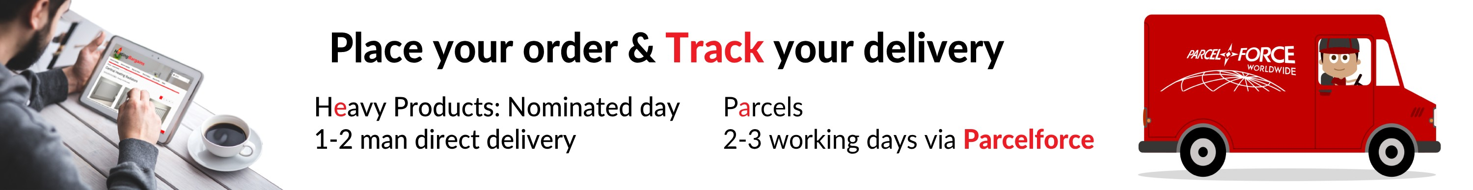 Deliveries by parcelforce